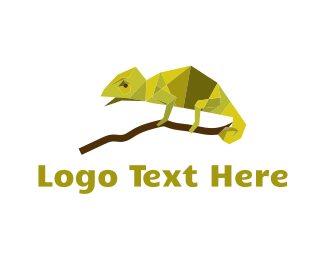 Lizard - Green Chameleon logo design