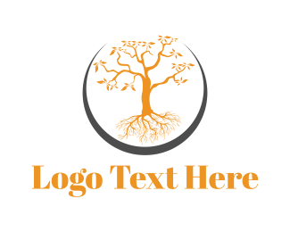 Black And Orange - Orange Tree logo design