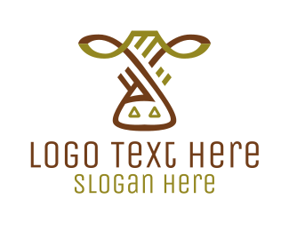 Farmer - Cow Farm logo design