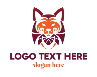 Tiger - Red Tiger logo design