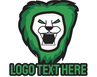 Africa - Green Lion logo design