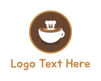 Coffee - Bear Cup logo design