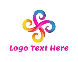 Curly - Swirl Flower logo design