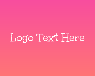 Handwritten - Cute Pink Handwritten logo design