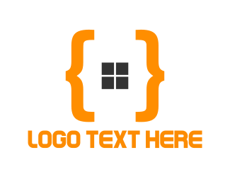 Black And Orange - Orange Code logo design