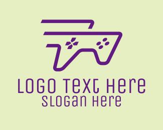 E Games - Purple Fast Controller logo design