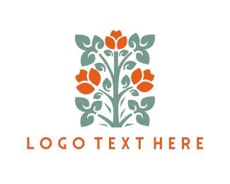 Gardener - Red Roses logo design