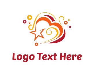 Celebration - Heart & Swirls logo design
