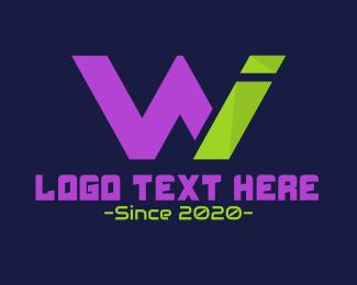 Gamer - W & I logo design