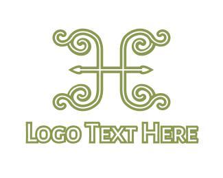 Drapery - Elegent Green H logo design