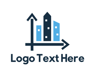 Bar Chart - City Development logo design