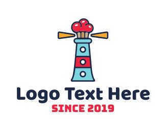 Cake - Lighthouse Cupcakes logo design