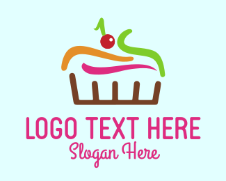 Bake - Colorful Cake logo design