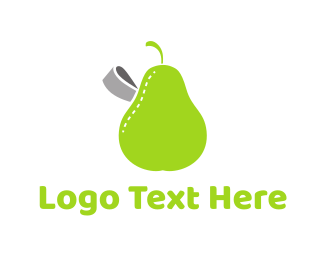 Fat - Pear Label logo design