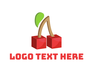 Geometrical - Cherry Cubes logo design