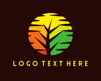 Outback - Sunset Tree logo design