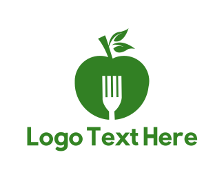 Fork - Green Apple logo design