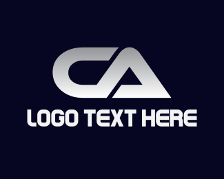 California - Silver C & A logo design