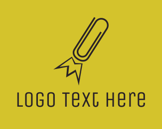 Paper Clip - Office Boost logo design