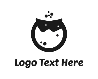 Bubbles - Black Pot logo design