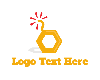 Honeycomb - Honey Bomb logo design