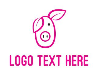 Farming - Pig Cartoon logo design