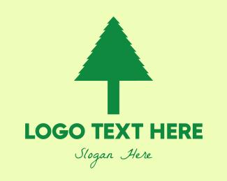 Pine Tree - Simple Tree logo design