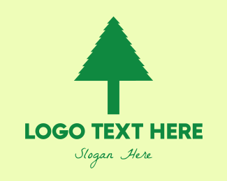Pine Tree - Simple Tree logo design