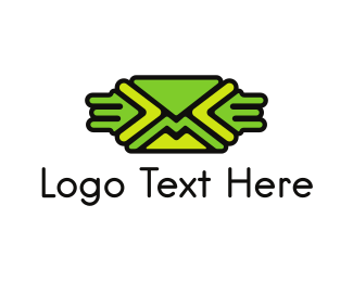 Postal - Green Mail logo design