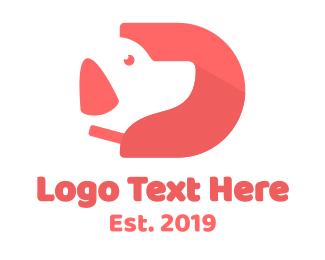 Puppy - Puppy Letter D logo design