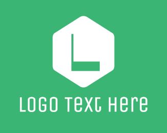 Label - Green Hexagon Letter logo design