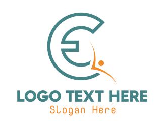 Letter E - Blue Letter E logo design