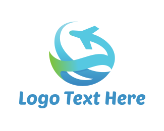 Aero - Abstract Plane logo design