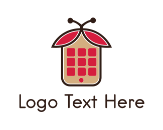 Phone - App Bug  logo design