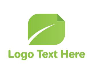 Publisher - Page Leaf logo design