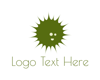 Explosion - Green Burst logo design