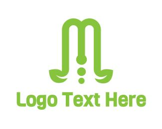Vine - Green Vine M logo design