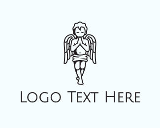 Religion - Praying Angel  logo design