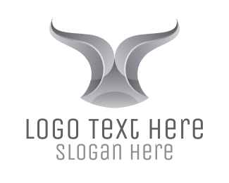 Torro - Chrome Ribbon Bull Horn logo design