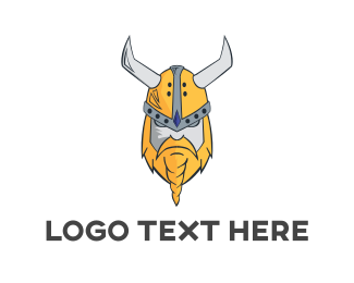 Army - Viking Mascot Beard logo design