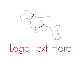 Collar - Cat & Dog  logo design