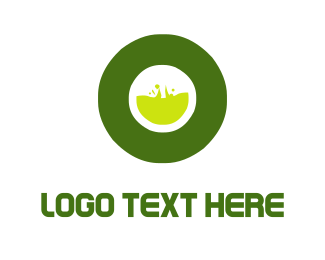 Lab - Toxic Letter O logo design