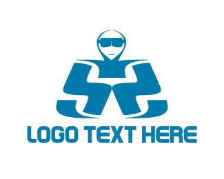 Man Letter S Logo