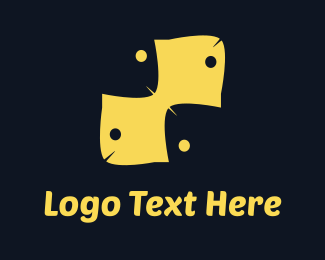 Texture - Yellow Fish Pattern logo design