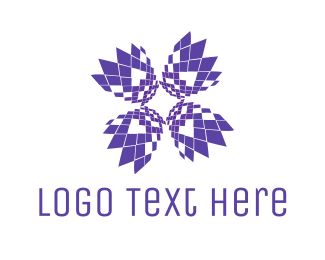 Artificial Intelligence -  Pixel Bloom logo design