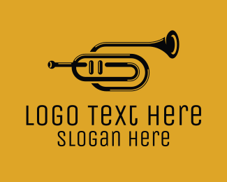 Black And White - Black & White Trumpet logo design