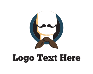 Bow - Bow & Moustache logo design