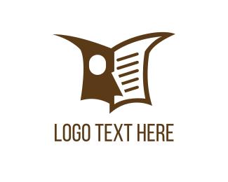 Newspaper - Owl Book logo design