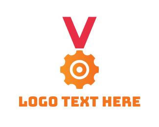 First - Gear Medal  logo design