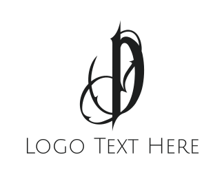 """""""Gothic Letter D"""" by FireFoxDesign"""